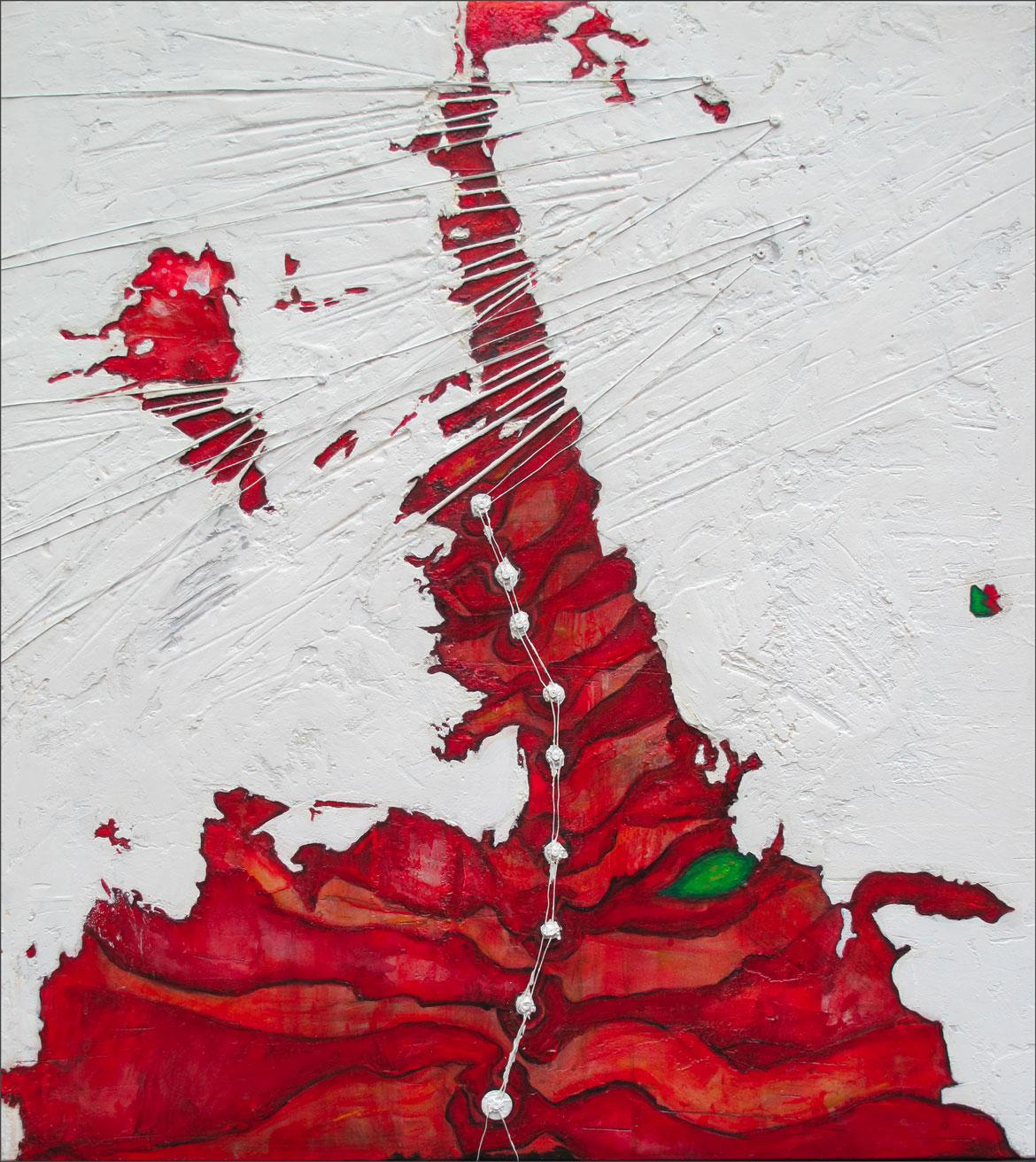 Hell gates approach abstractions interstellaires Acrylique sur panneau alvéolaire