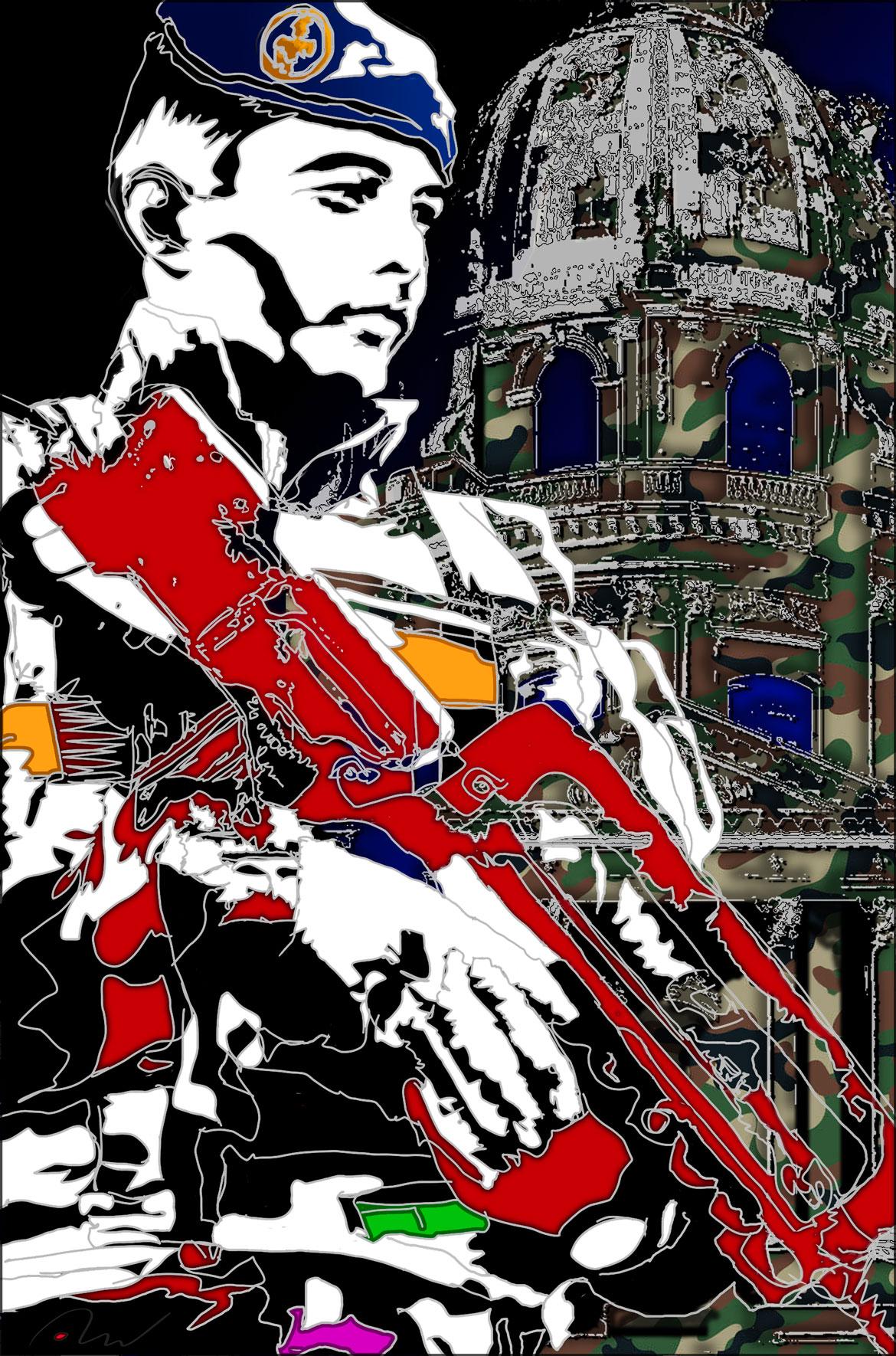 operation sentinelle Invalides : le Génie en action Prix des musées de l'armée de Terre :prix des oeuvres sur papier. Digraphie 50x70-30 exemplaires