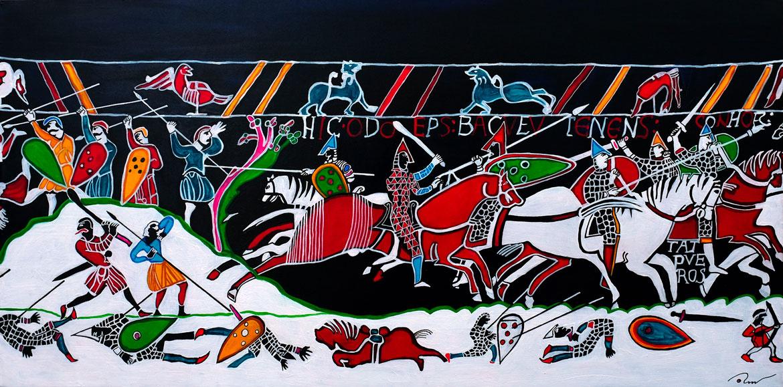 Riders et Cavaliers Tapisserie de Bayeux 51-ème mètre bataille d'Hasting