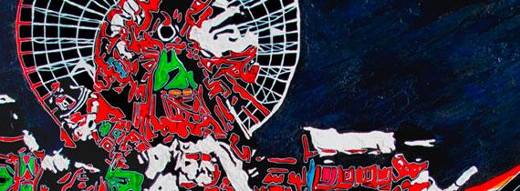 vers la galerie air et espace Dominque favreul Artiste peintre, peintures acryliques et digraphies